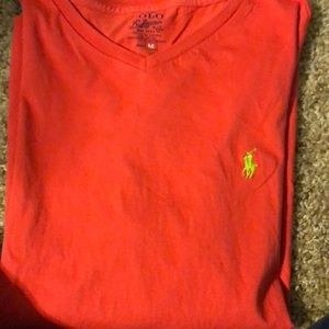 Polo Ralph Lauren, M, coral colored, short sleeve